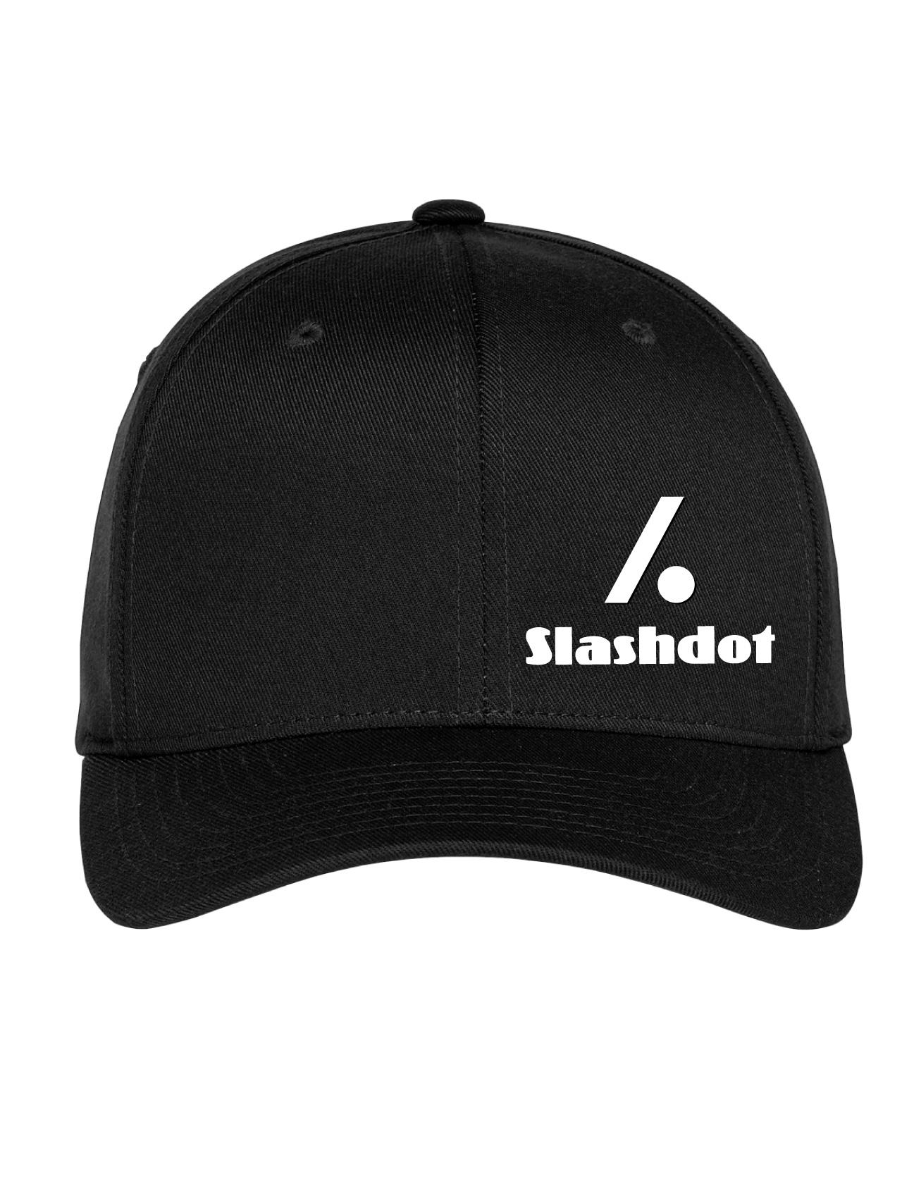 Slashdot Black Flexfit Cap