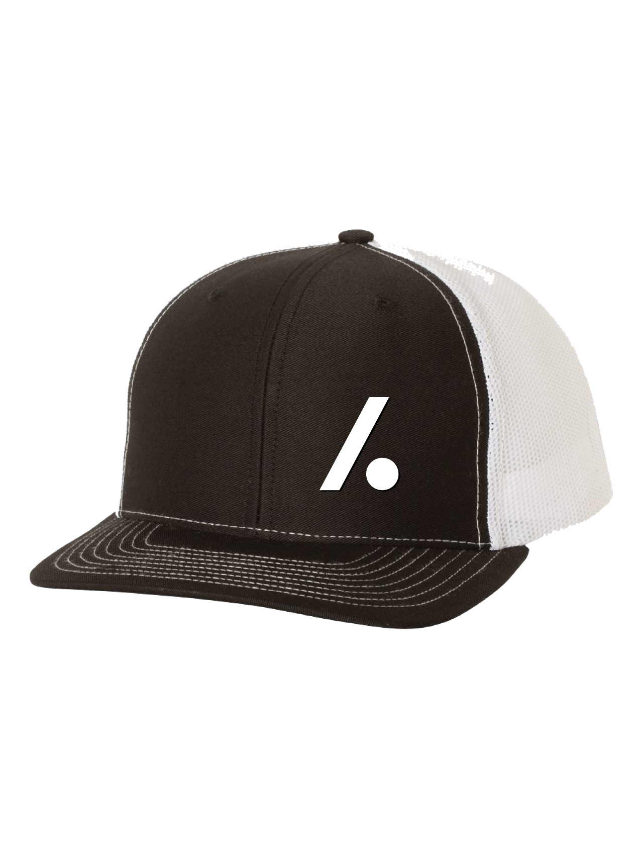 Slashdot Logo Trucker Black and White
